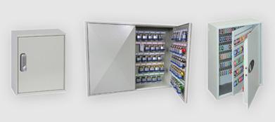 Secure key cabinet safes