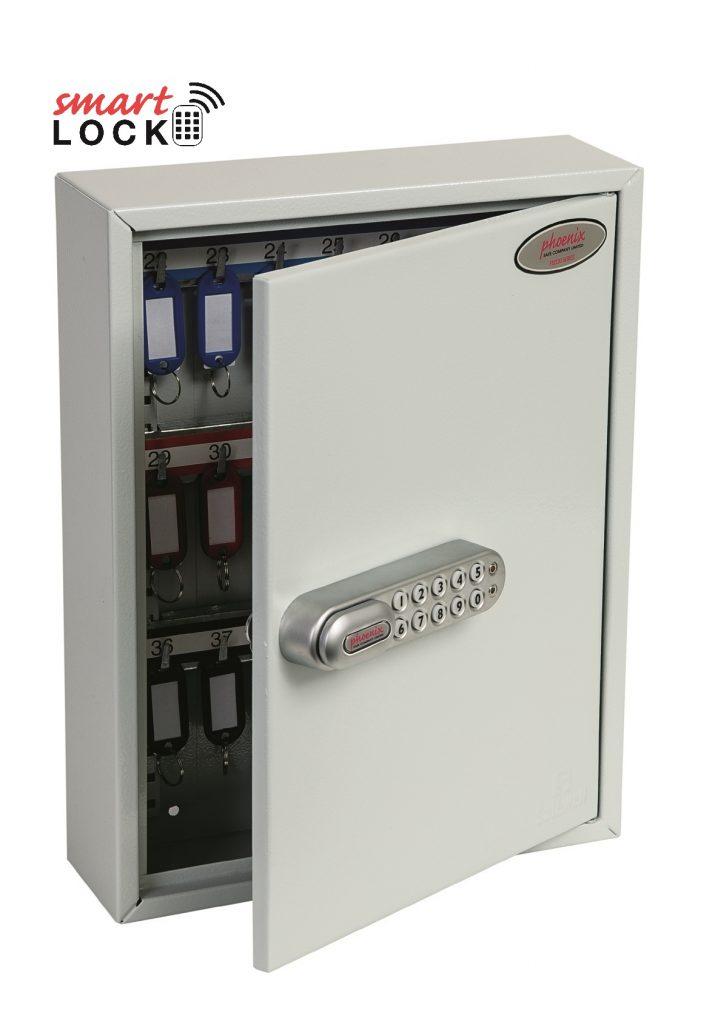 Phoenix Commercial Key Cabinet KC0601N 42 Hook with Net Code Electronic Lock.