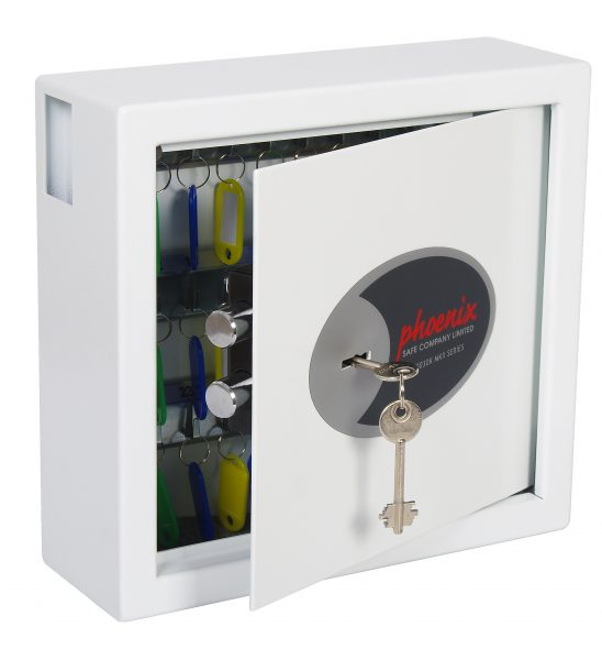 Phoenix Cygnus Key Deposit Safe KS0031K 30 Hook with Key Lock