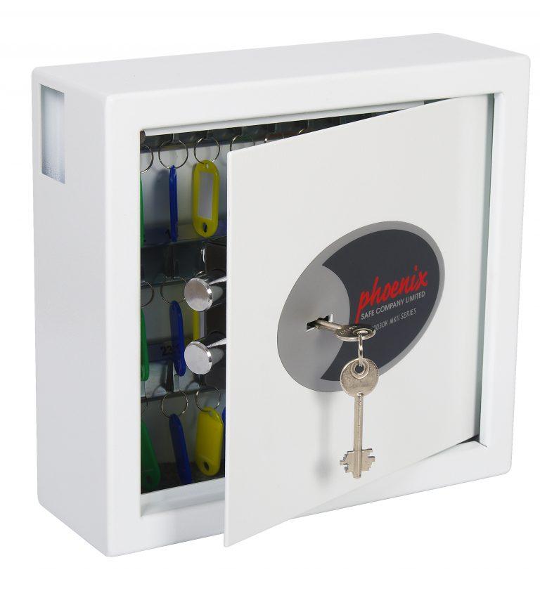 Phoenix Cygnus Key Deposit Safe KS0031K 30 Hook with Key Lock