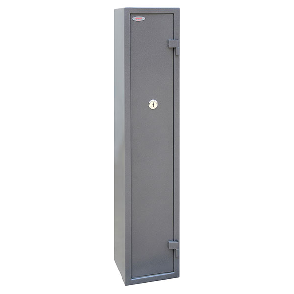 Phoenix Tucana GS8016K 5 Gun Safe with Internal Ammo Box and Key Lock