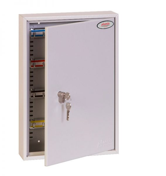 Phoenix Commercial Key Cabinet KC0602P 64 Hook with Euro Cylinder Lock Case