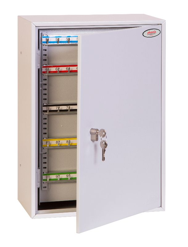 Phoenix Commercial Key Cabinet KC0604P 200 Hook with Euro Cylinder Lock Case