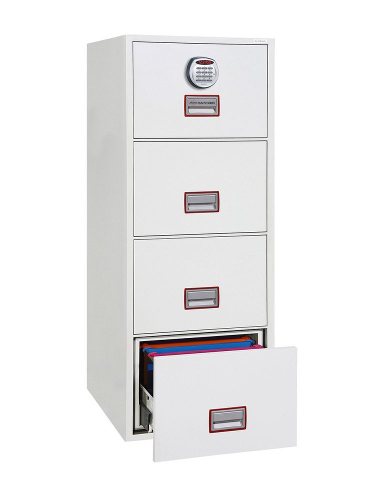 Phoenix World Class Vertical Fire File FS2274E 4 Drawer Filing Cabinet with Electronic Lock