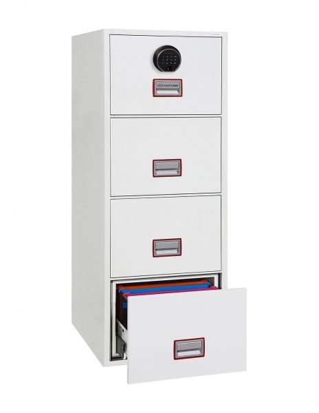 Phoenix World Class Vertical Fire File FS2274F 4 Drawer Filing Cabinet with Fingerprint Lock