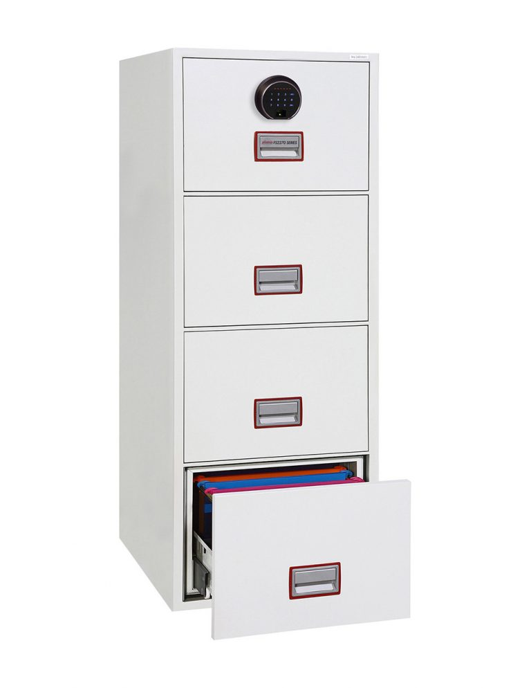 Phoenix World Class Vertical Fire File FS2274F 4 Drawer Filing Cabinet with Fingerprint Lock