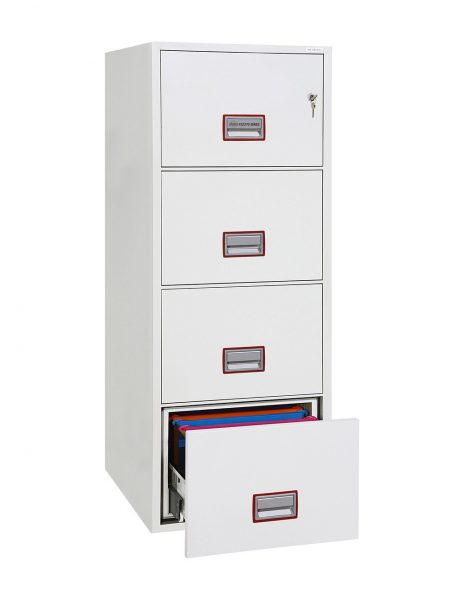 Phoenix World Class Vertical Fire File FS2274K 4 Drawer Filing Cabinet with Key Lock