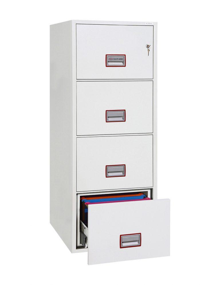 Phoenix World Class Vertical Fire File FS2274K 4 Drawer Filing Cabinet with Key Lock
