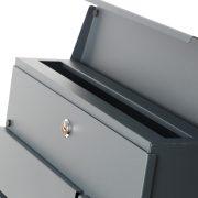 Phoenix Estilo Top Loading Letter Box MB0121KA in Graphite Grey with Key Lock 6