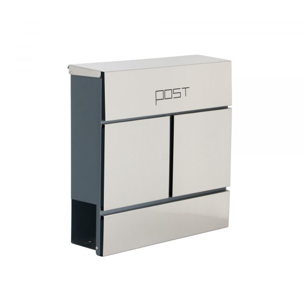Phoenix Estilo Top Loading Letter Box MB0124KS in Stainless Steel with Key Lock