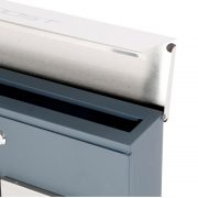 Phoenix Estilo Top Loading Letter Box MB0124KS in Stainless Steel with Key Lock 7