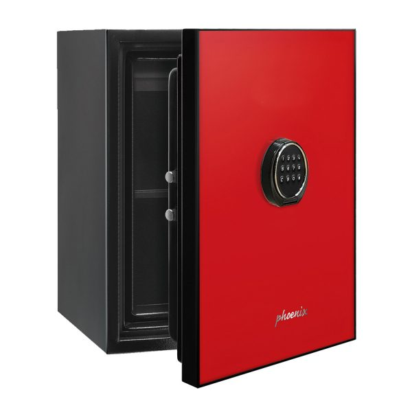 Phoenix Spectrum LS6001ER Luxury Fire Safe with Red Door Panel and Electronic Lock