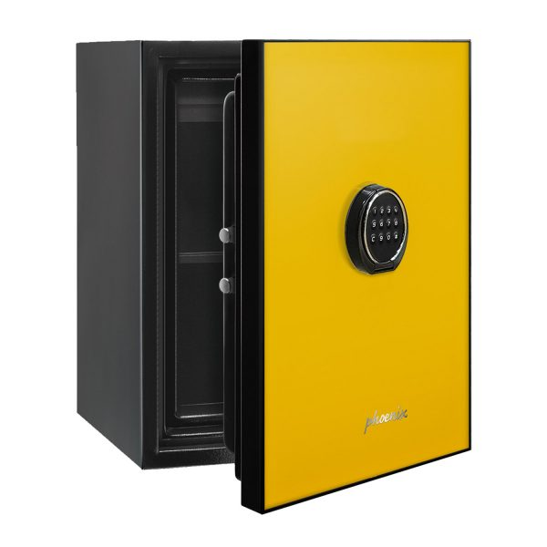Phoenix Spectrum LS6001EY Luxury Fire Safe with Yellow Door Panel and Electronic Lock