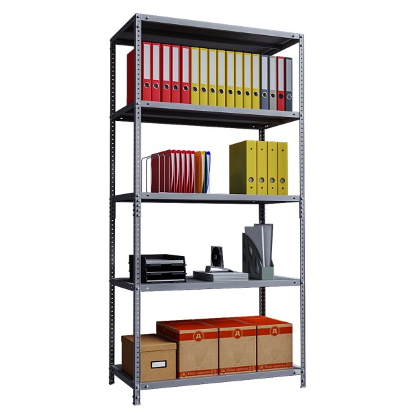 Phoenix AR Series AR2015/5G 5 Shelf Static Shelving Unit in Grey