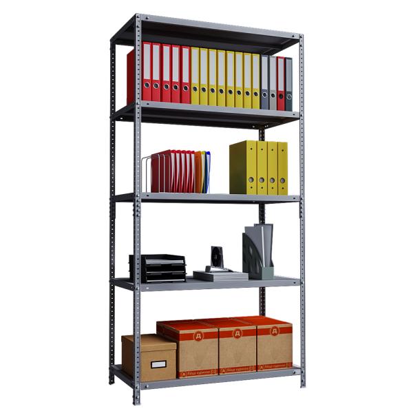 Phoenix AR Series AR2015/5G 5 Shelf Static Shelving Unit in Grey