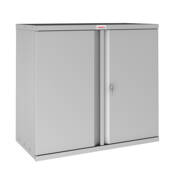 Phoenix SC Series SC0891GK 2 Door 1 Shelf Stationery Cupboard in Grey with Key lock