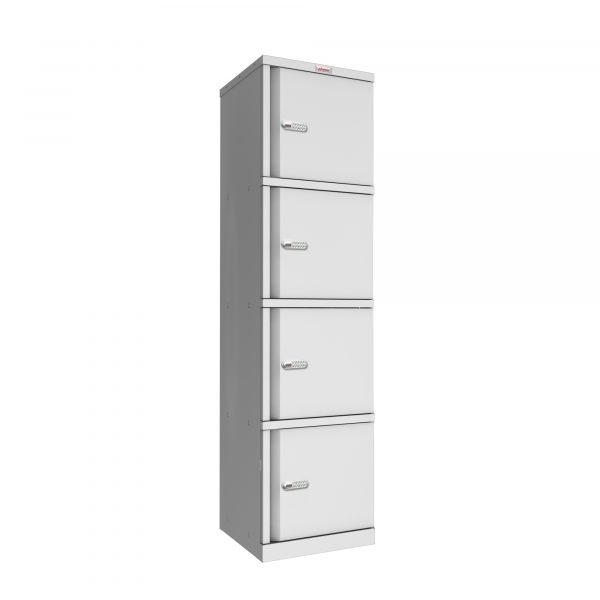 Phoenix SC Series SC1845/4GE 4 Door Stationery Cupboard in Grey with Electronic Lock