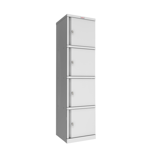 Phoenix SC Series SC1845/4GK 4 Door Stationery Cupboard in Grey with Key Lock