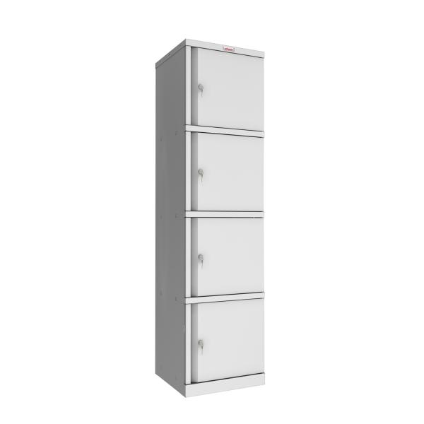 Phoenix SC Series SC1845/4GK 4 Door Stationery Cupboard in Grey with Key Lock