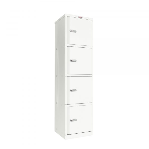Phoenix SC Series SC1845/4WE 4 Door Stationery Cupboard in White with Electronic Lock