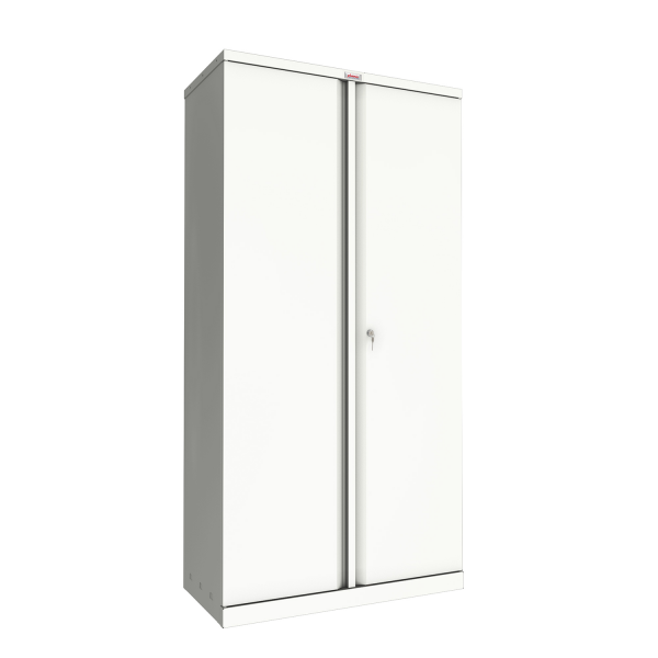 Phoenix SC Series SC1891WK 2 Door 4 Shelf Stationery Cupboard in White with Key lock