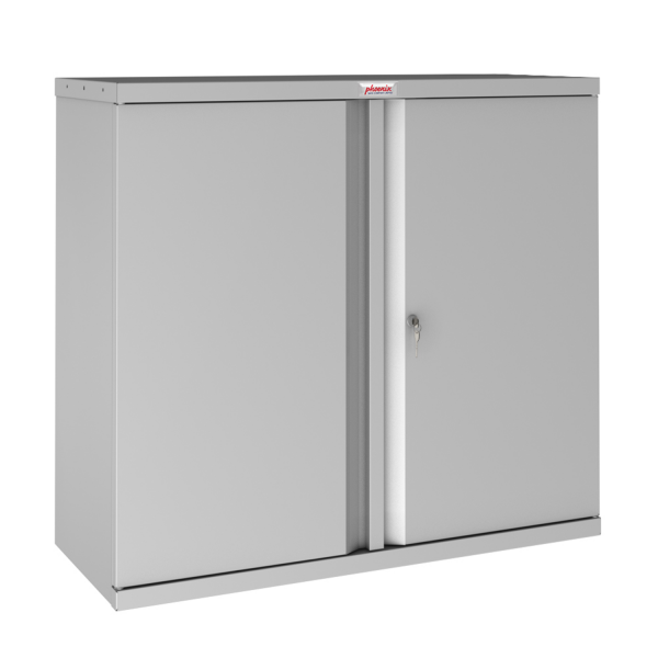 Phoenix SCL Series SCL0891GGK 2 Door 1 Shelf Steel Storage Cupboard in Grey with Key Lock