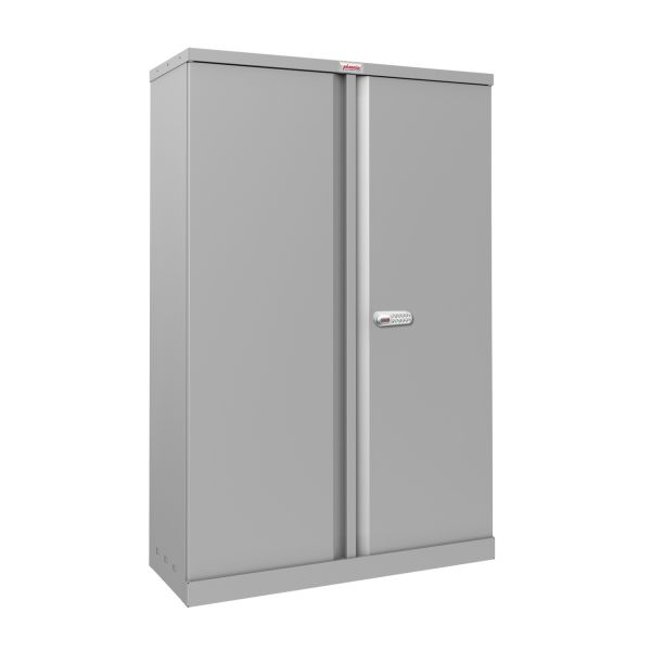 Phoenix SCL Series SCL1491GGE 2 Door 3 Shelf Steel Storage Cupboard in Grey with Electronic Lock