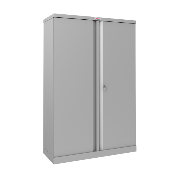 Phoenix SCL Series SCL1491GGK 2 Door 3 Shelf Steel Storage Cupboard in Grey with Key Lock