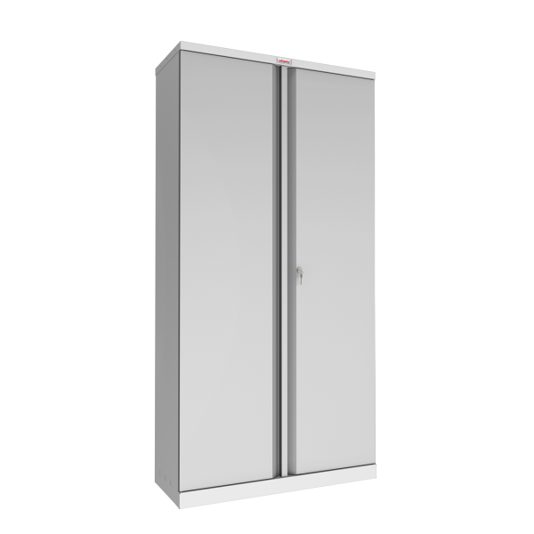 Phoenix SCL Series SCL1891GGK 2 Door 4 Shelf Steel Storage Cupboard in Grey with Key Lock
