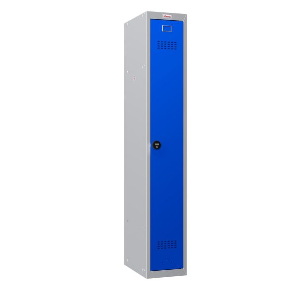 Phoenix PL Series PL1130GBC 1 Column 1 Door Personal Locker Grey Body/Blue Door with Combination Lock