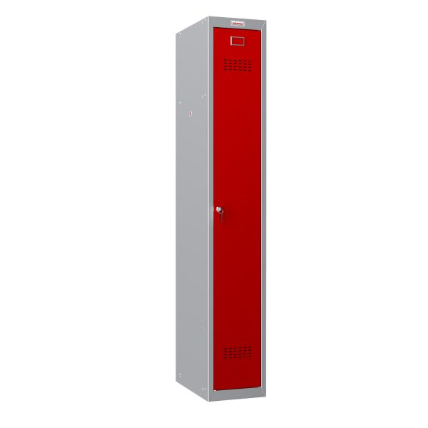 Phoenix PL Series PL1130GRK 1 Column 1 Door Personal Locker Grey Body/Red Door with Key Lock