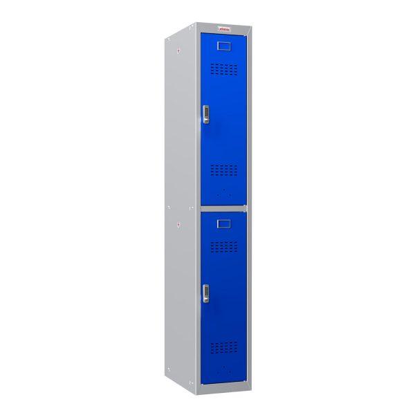 Phoenix PL Series PL1230GBE 1 Column 2 Door Personal Locker Grey Body/Blue Doors with Electronic Locks