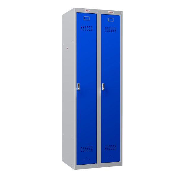 Phoenix PL Series PL2160GBE 2 Column 2 Door Personal Locker Combo Grey Body/Blue Doors with Electronic Locks
