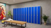 Phoenix PL Series PL2160GBE 2 Column 2 Door Personal Locker Combo Grey Body/Blue Doors with Electronic Locks 8