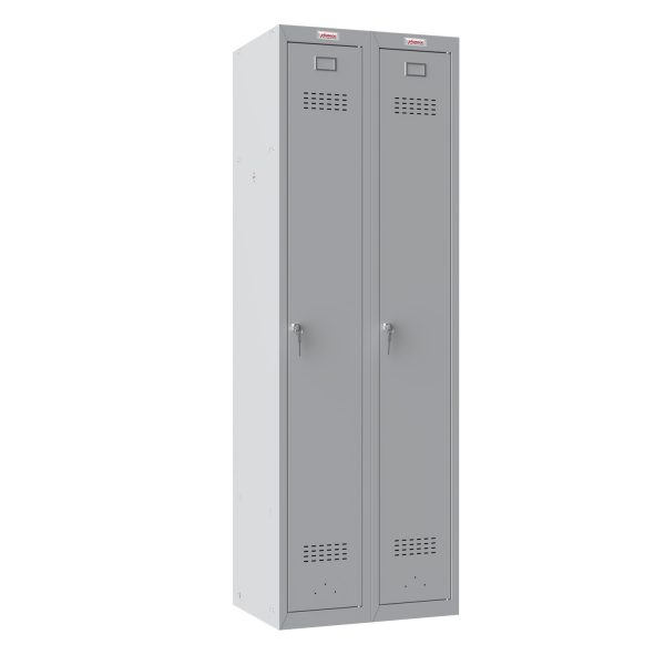 Phoenix PL Series PL2160GGK 2 Column 2 Door Personal Locker Combo in Grey with Key Locks