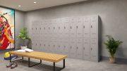 Phoenix PL Series PL2260GGE 2 Column 4 Door Personal Locker Combo in Grey with Electronic Locks 8