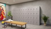 Phoenix PL Series PL2460GGE 2 Column 8 Door Personal Locker Combo in Grey with Electronic Locks 8