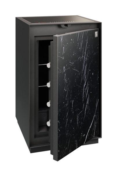 Phoenix Palladium LS8001EFN Luxury Safe Size 1 in Nero Marquina with Fingerprint Lock