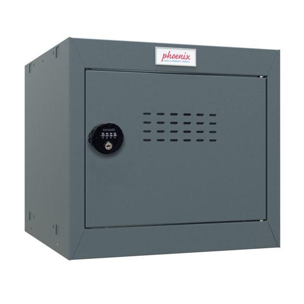 Phoenix CL0344AAC Size 1 Dark Grey Cube Locker with Combination Lock