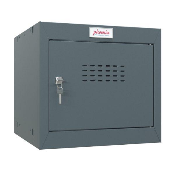 Phoenix CL0344AAK Size 1 Dark Grey Cube Locker with Key Lock