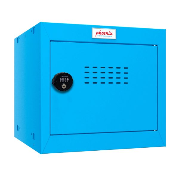 Phoenix CL0344BBC Size 1 Blue Cube Locker with Combination Lock