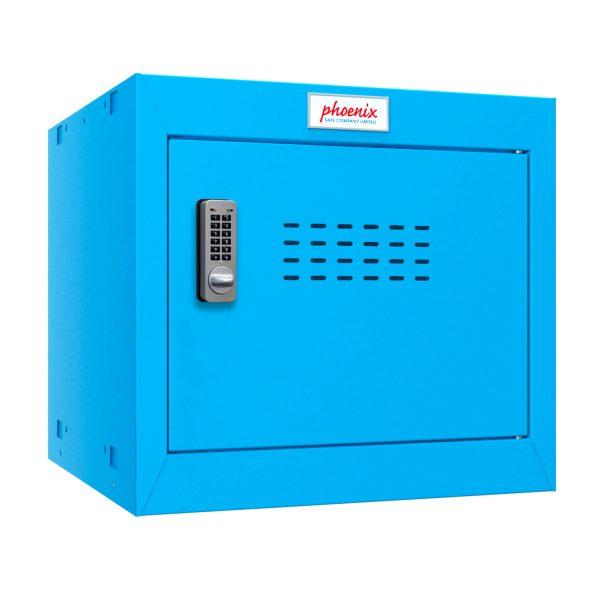 Phoenix CL0344BBE Size 1 Blue Cube Locker with Electronic Lock