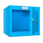 Phoenix CL0344BBK Size 1 Blue Cube Locker with Key Lock 0