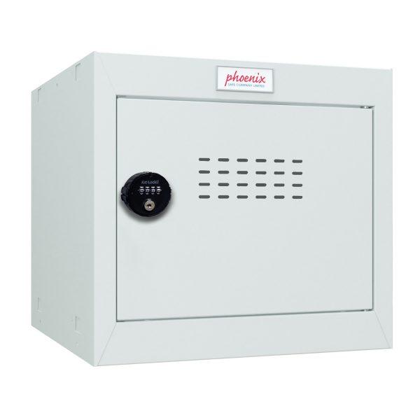 Phoenix CL0344GGC Size 1 Light Grey Cube Locker with Combination Lock