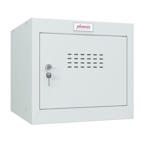 Phoenix CL0344GGK Size 1 Light Grey Cube Locker with Key Lock
