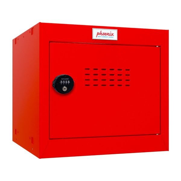 Phoenix CL0344RRC Size 1 Red Cube Locker with Combination Lock