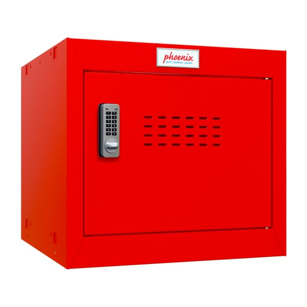 Phoenix CL0344RRE Size 1 Red Cube Locker with Electronic Lock