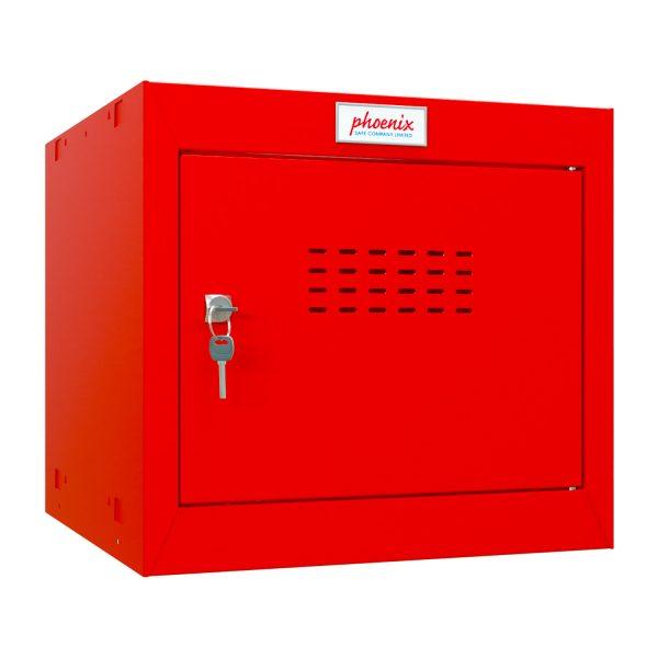 Phoenix CL0344RRK Size 1 Red Cube Locker with Key Lock