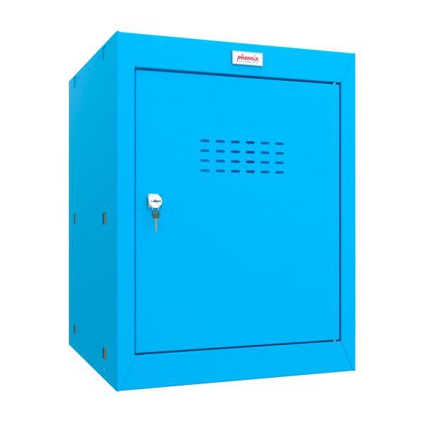 Phoenix CL0544BBK Size 2 Blue Cube Locker with Key Lock