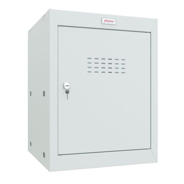 Phoenix CL0544GGK Size 2 Light Grey Cube Locker with Key Lock